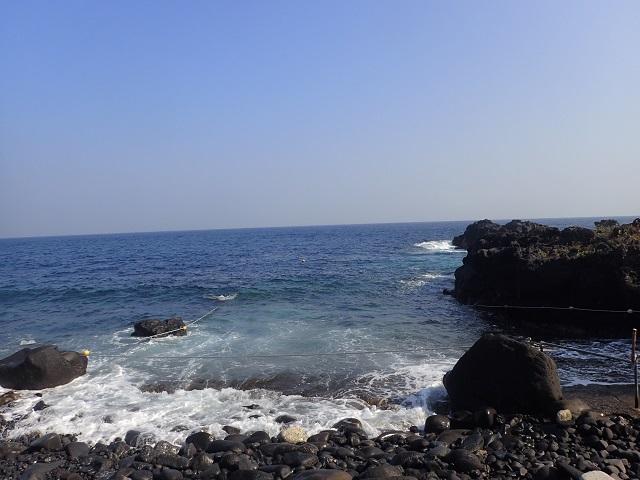 潜水注意、伊豆海洋公園エントリー口