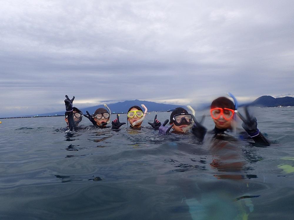 平沢にて体験ダイビング