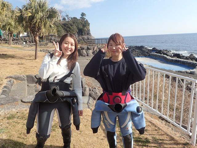 ダイビングの聖地、伊豆海洋公園にて初のダイビング