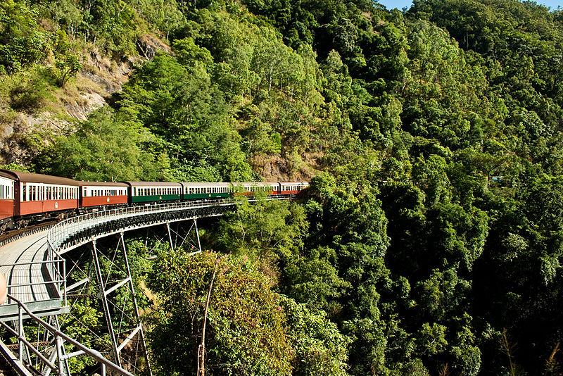 オーストラリア・キュランダ高原列車