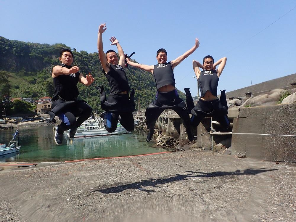 楽しさMAX、喜びのジャンプ