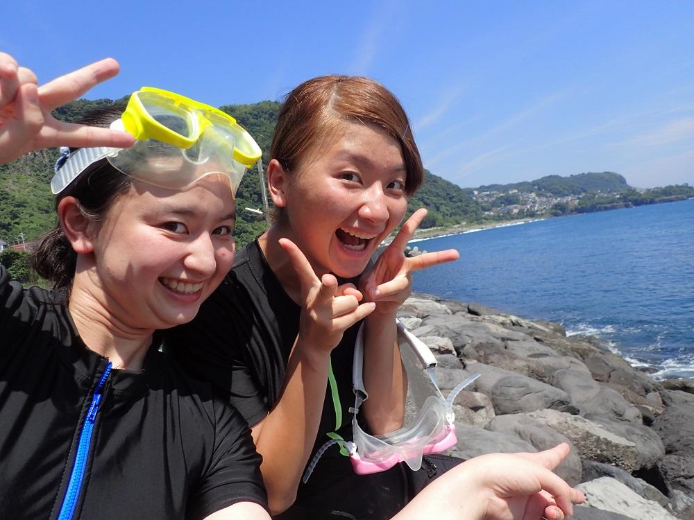 大学生、高校生姉妹でダイビング