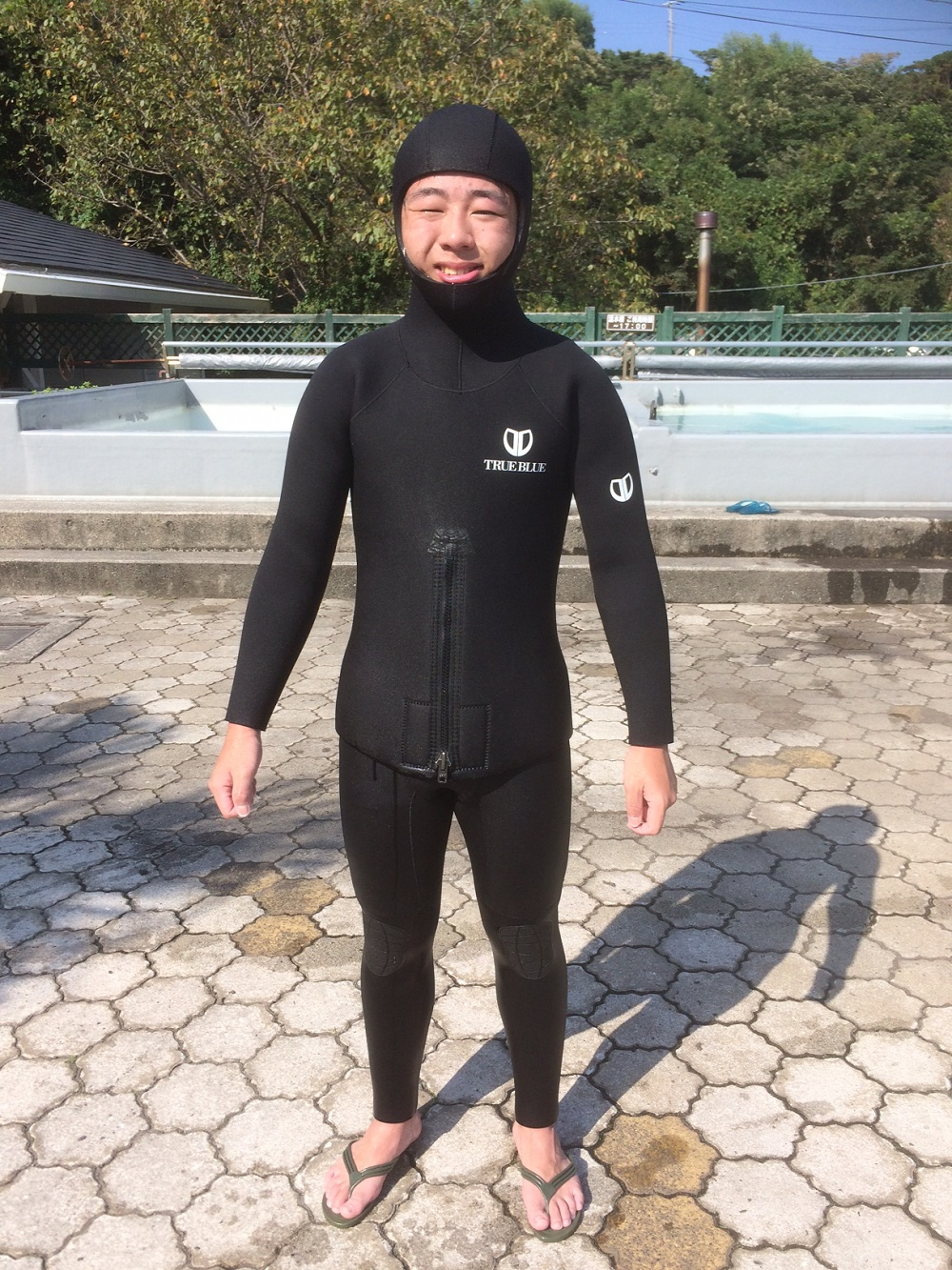 初のロクハンスーツ着用
