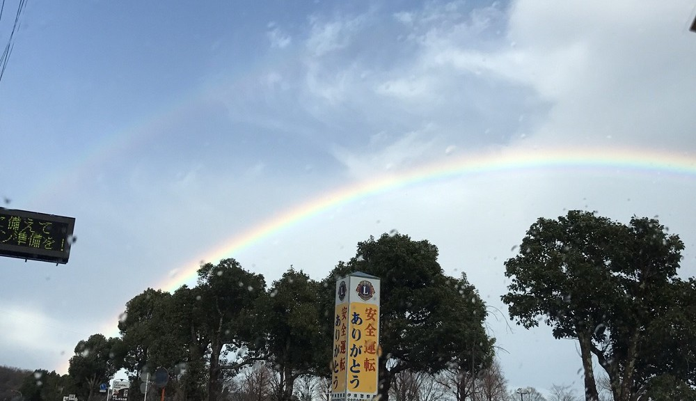 大雨のち虹