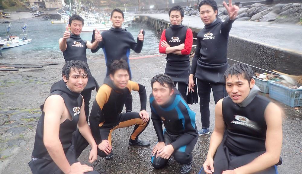 春休み旅行、初ダイビング大学生仲間
