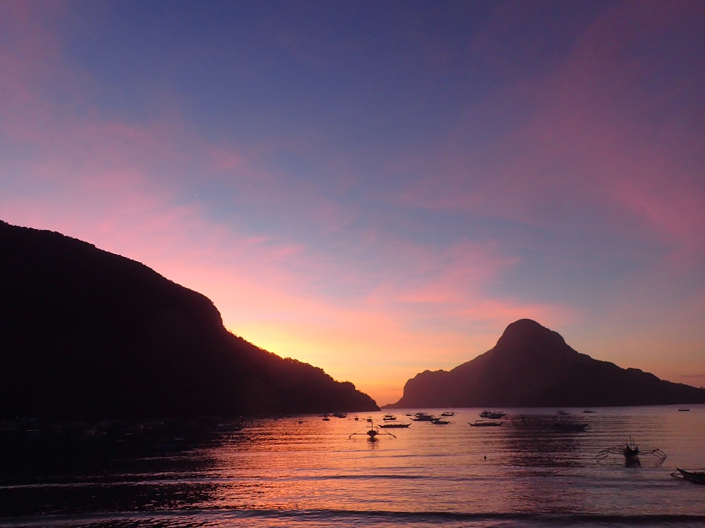 エルニドの夕日