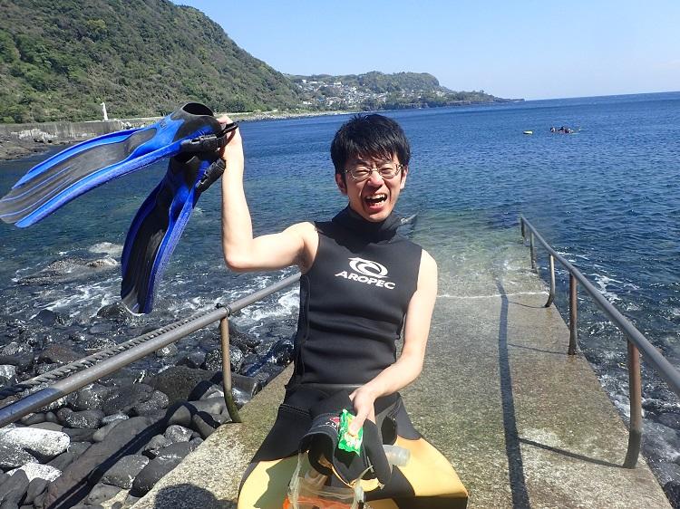 初ダイビング・Fさん