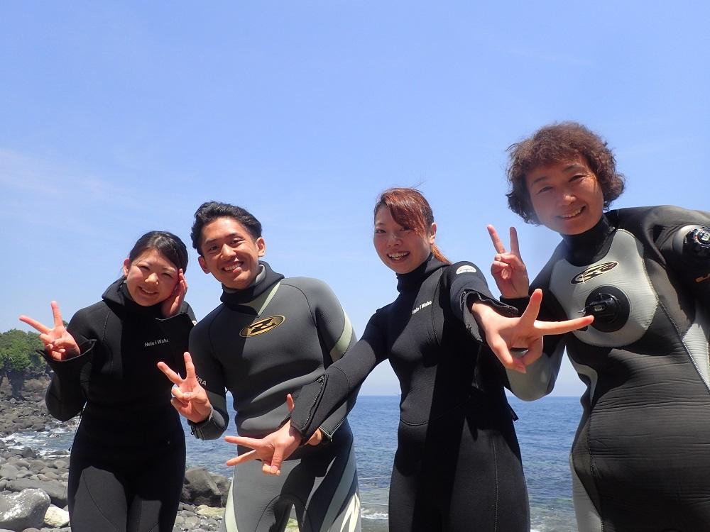 HAYATOと楽しいダイバー仲間達