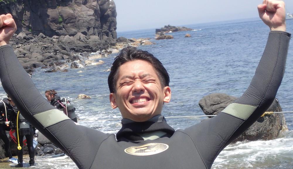 講習を終え、ダイバー誕生