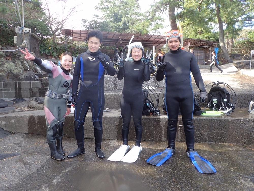 初の体験ダイビング