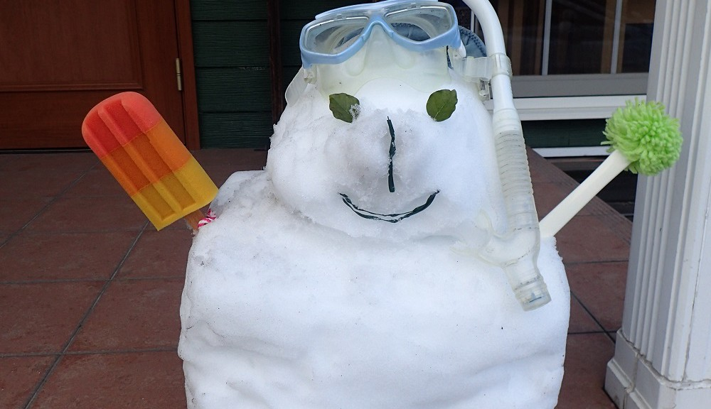 ゆきだるま スノーケリングバージョン