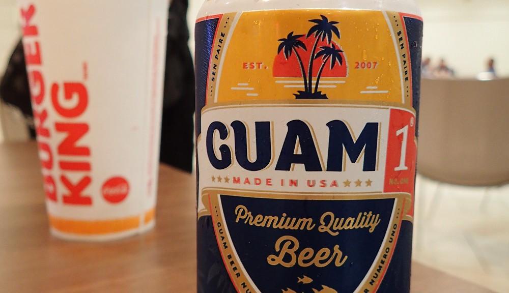 グアム待ち時間でビール