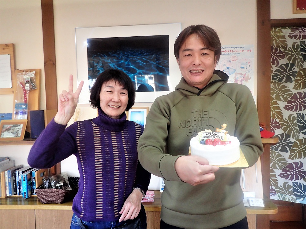 記念ケーキでお祝い!