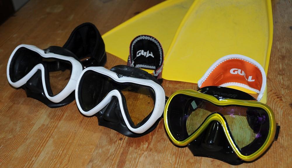 ダイビング器材、VADER歴代マスク