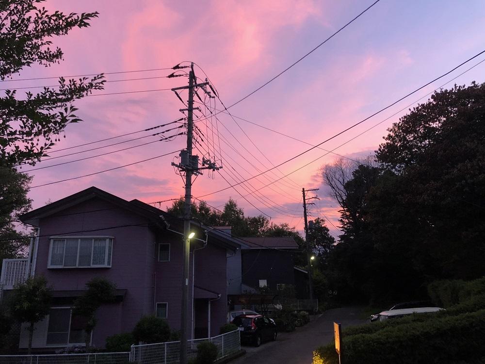 伊豆高原、綺麗な夕日