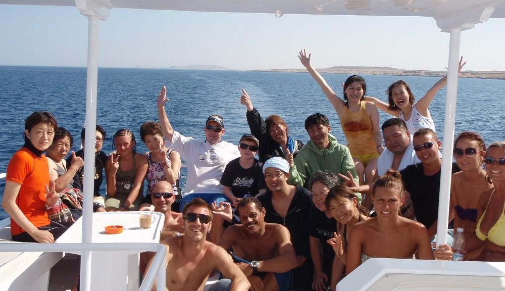 エジプト紅海・船上にて
