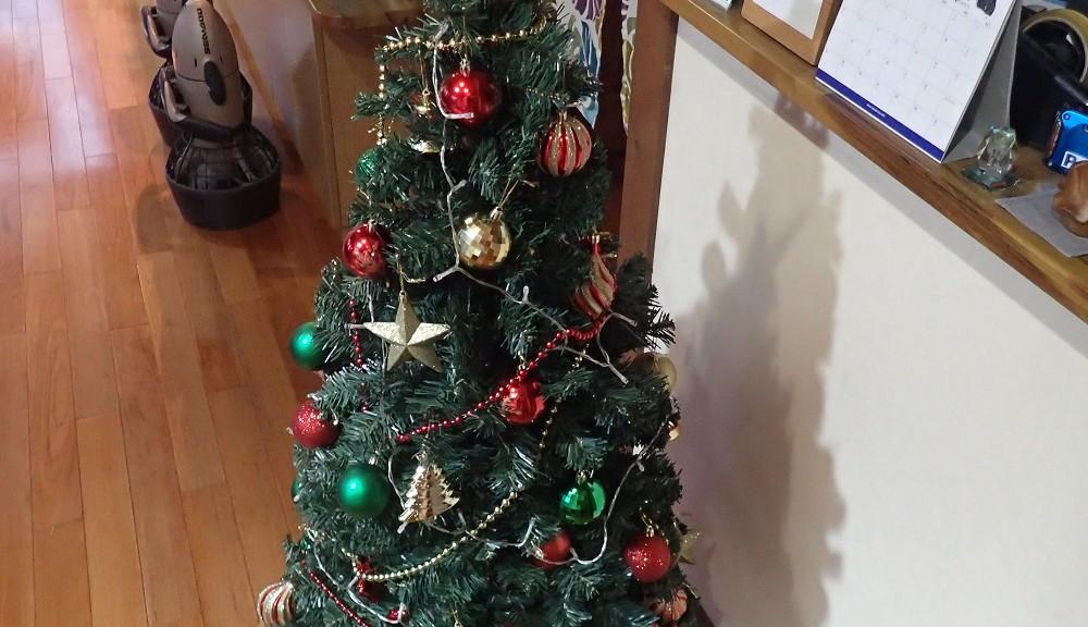 クリスマスツリー設置完了