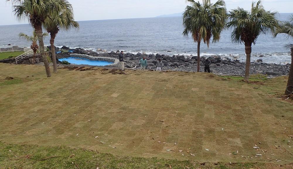 海沿いのキャンプ場