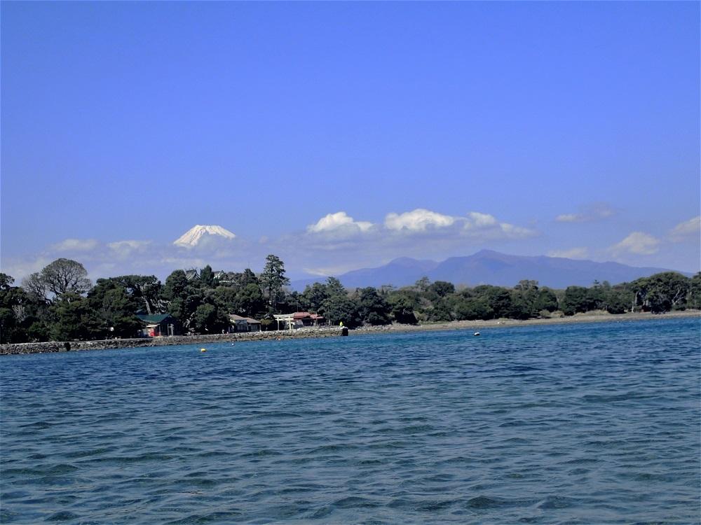 湾内から見る富士山