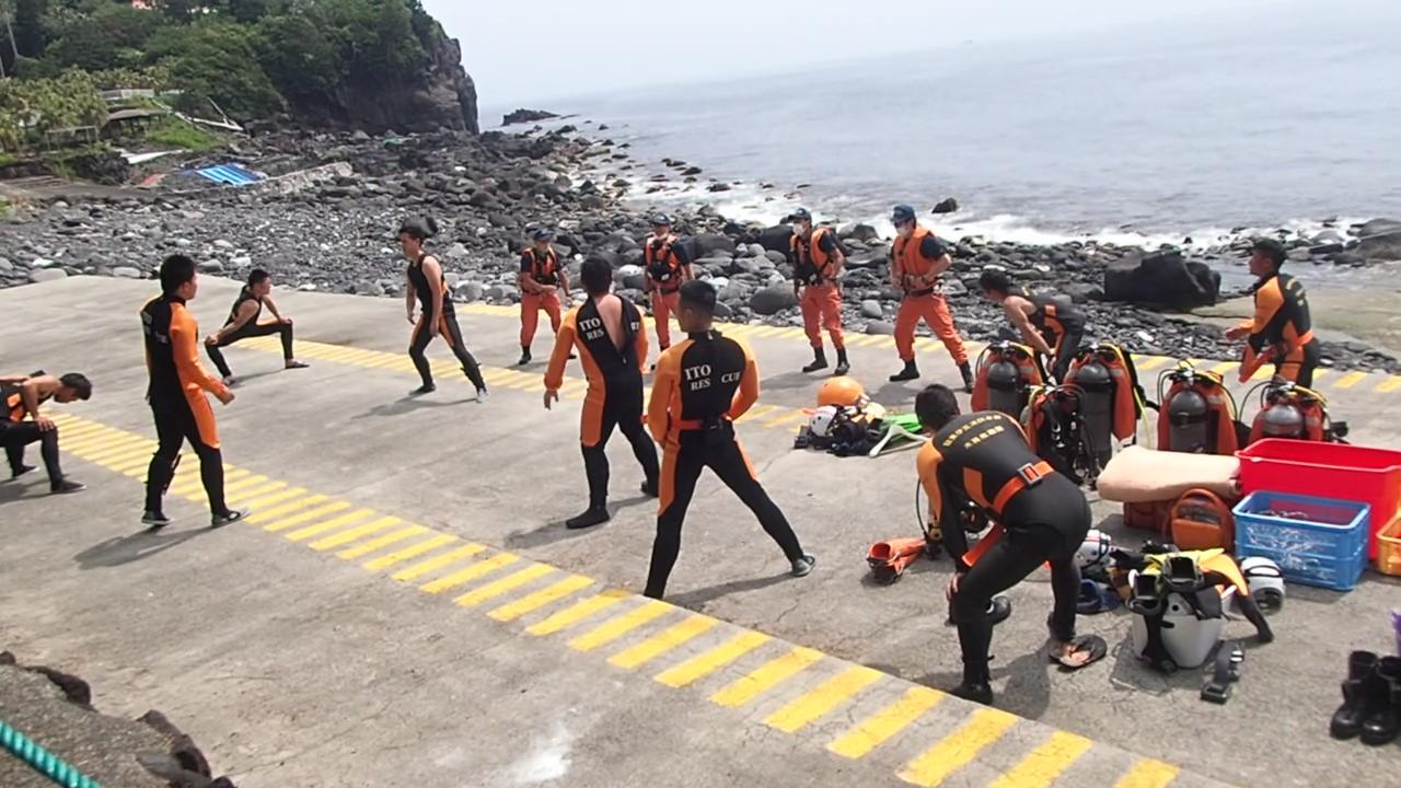 消防隊員・潜水トレーニング