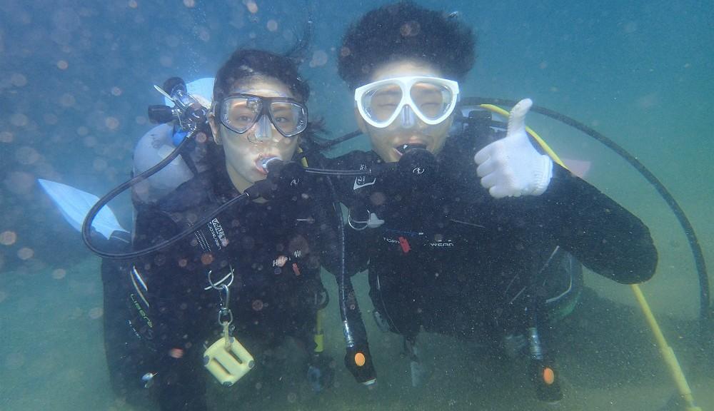 透明度良好、平沢にてダイビング