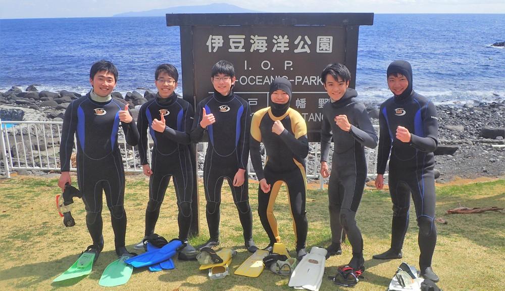 初の体験ダイビング・サッカー部6人様